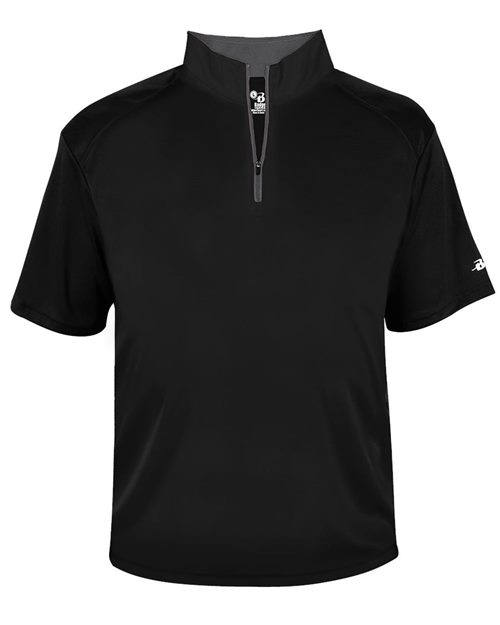 Badger 4199 B-Core Quarter-Zip T-Shirt Model Shot