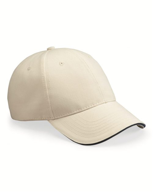 Bayside 3621 USA-Made Brushed Twill Cap Model Shot