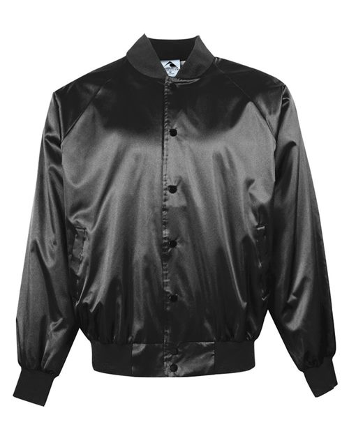 Augusta Sportswear 3600 Satin Baseball Jacket with Solid Trim Model Shot