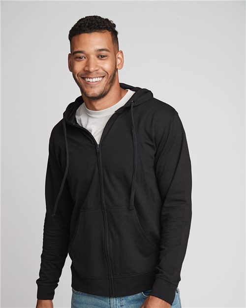 Next Level 9601 French Terry Zip Hoodie Model Shot