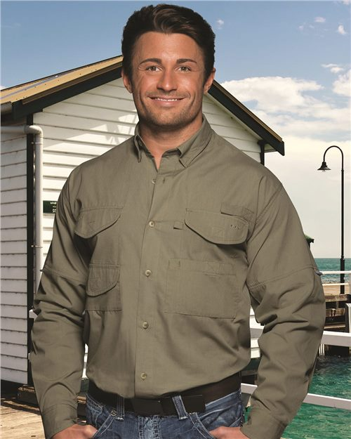 Hilton ZP2289 Fishermen Long Sleeve Shirt Model Shot