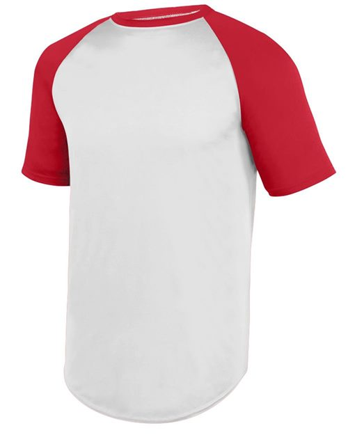 Augusta Sportswear 1508 Wicking Short Sleeve Baseball Jersey Model Shot