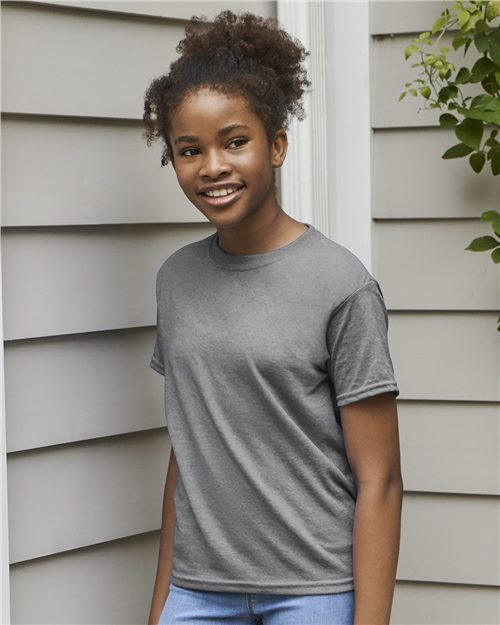 Gildan 8000B DryBlend® Youth T-Shirt Model Shot