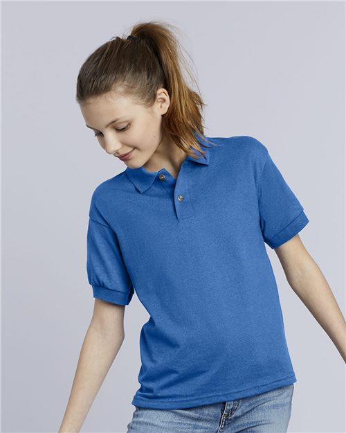 Gildan 8800B DryBlend® Youth Jersey Sport Shirt Model Shot