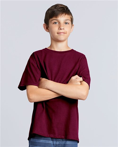 Gildan 5000B Heavy Cotton™ Youth T-Shirt Model Shot