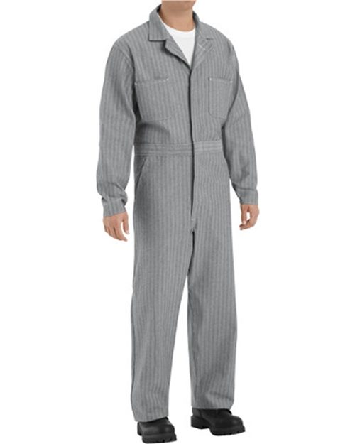 Red Kap CC16 Button-Front Cotton Coverall Model Shot