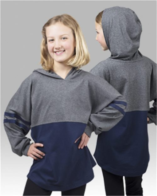 Boxercraft YT18 Youth Hooded Pom Pom Jersey Model Shot