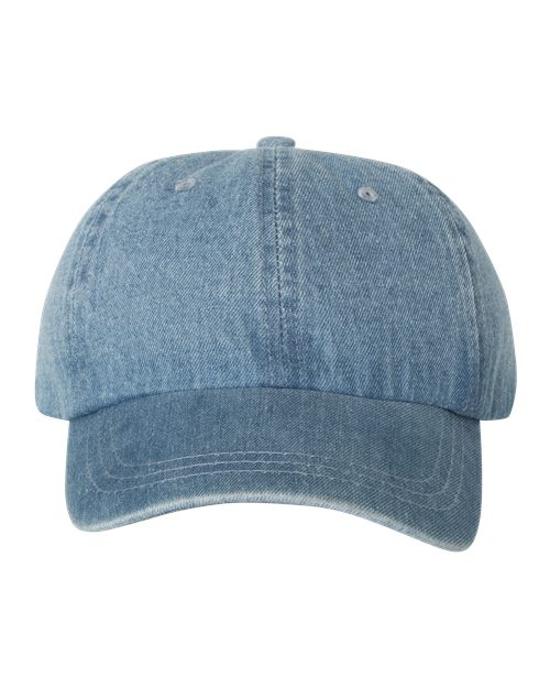 Mega Cap 7610 Washed Denim Cap Model Shot