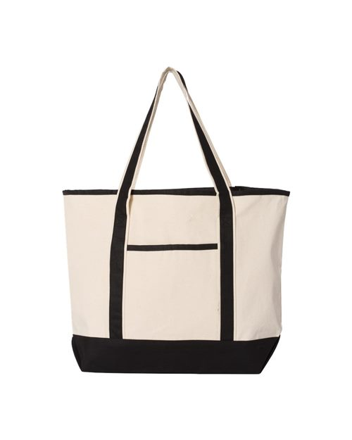 Q-Tees Q1500 34.6L Large Canvas Deluxe Tote Model Shot