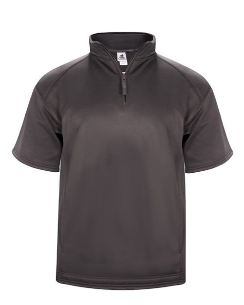 Badger 1482 Poly Fleece Short Sleeve Quarter-Zip Model Shot