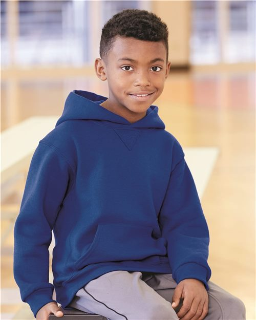 Russell Athletic 995HBB Youth Dri Power® Hooded Pullover Sweatshirt Model Shot