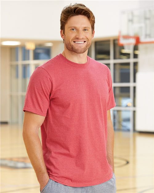Russell Athletic 64STTM Essential 60/40 Performance Tee Model Shot