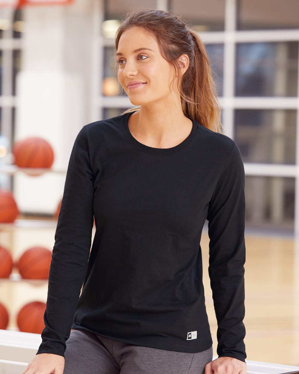Russell Athletic Women's Essential 60/40 Performance Long Sleeve T-Shirt