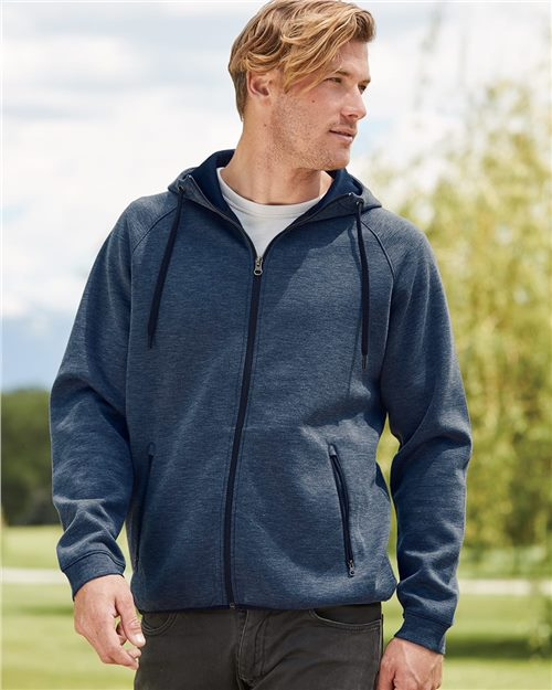 Weatherproof 18700 Sudadera con capucha y cremallera completa Heat Last Fleece Tech Model Shot
