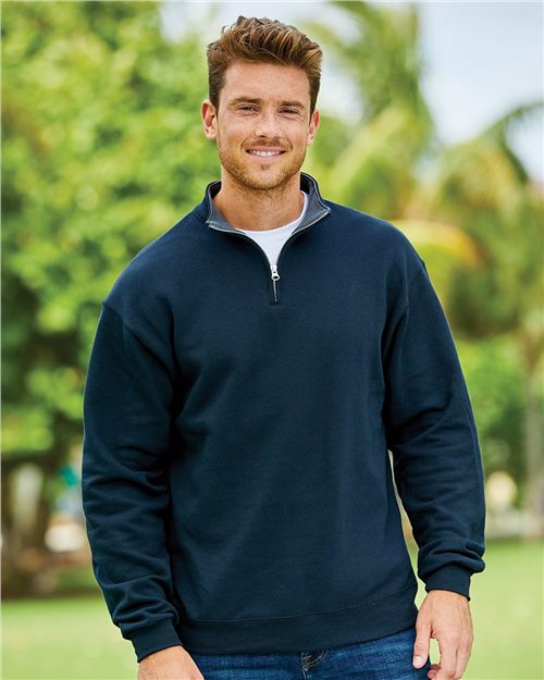 Fruit of the Loom SF95R Sofspun® Quarter-Zip Sweatshirt Model Shot