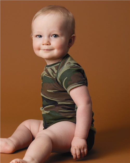 Code Five 4403 Infant Camouflage Creeper Model Shot