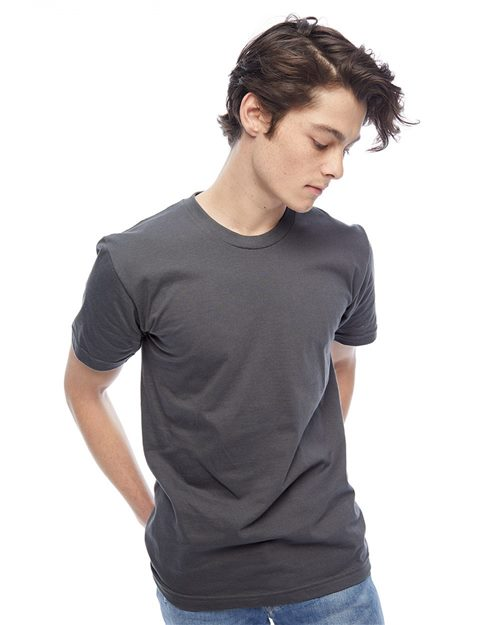American Apparel 2001US USA-Made Fine Jersey Tee Model Shot