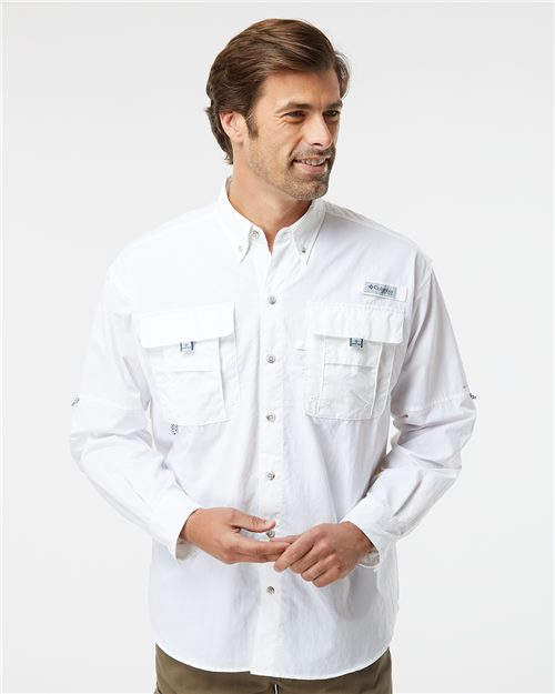 Columbia 101162 PFG Bahama™ II Long Sleeve Shirt Model Shot