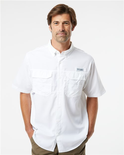 Columbia 157722 PFG Blood and Guts™ III Short Sleeve Shirt Model Shot