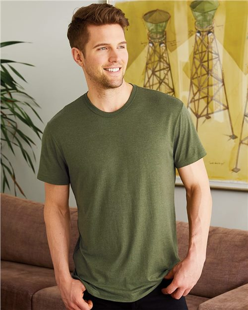 Hanes MO100 Modal Triblend Short Sleeve T-Shirt Model Shot