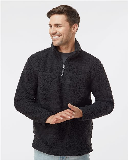 Boxercraft Q10 Unisex Sherpa Fleece Quarter-Zip Pullover Model Shot