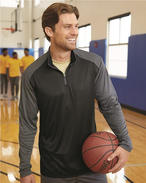Badger 4006 Ultimate SoftLock™ Sport Quarter-Zip Pullover Model Shot