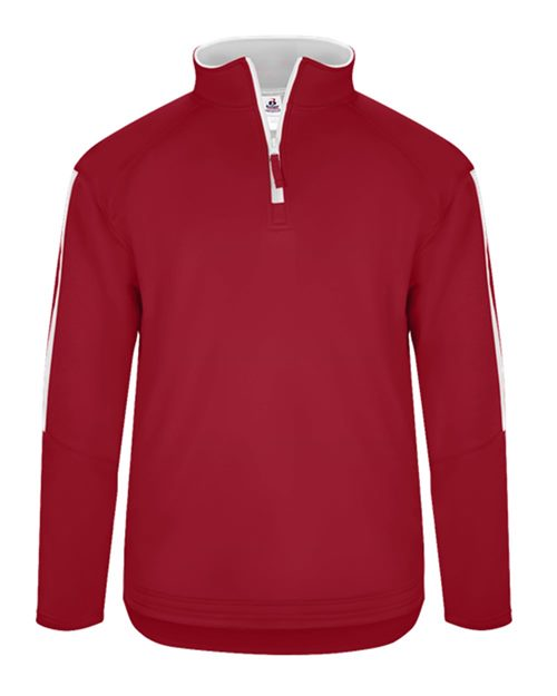 Badger 1489 Sideline Fleece Quarter-Zip Model Shot