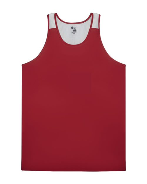 Alleson Athletic 2668 Youth Ventback Singlet Model Shot