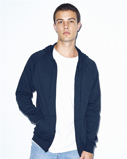 American Apparel 5497W Unisex California Fleece Zip Hoodie Model Shot