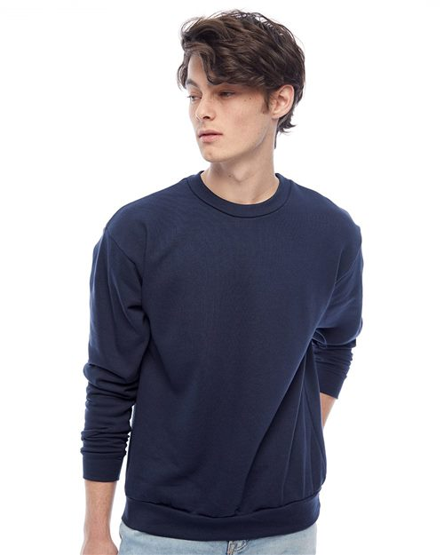 American Apparel F496W Flex Fleece Unisex Drop-Shoulder Sweatshirt Model Shot