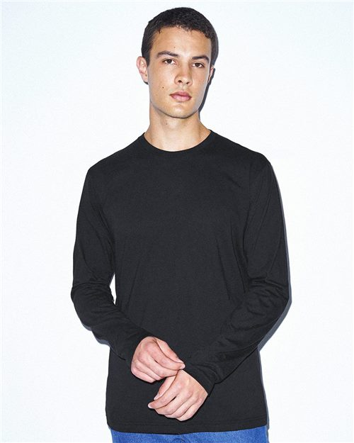 American Apparel RSA2426W Unisex Power Wash Long Sleeve Tee Model Shot