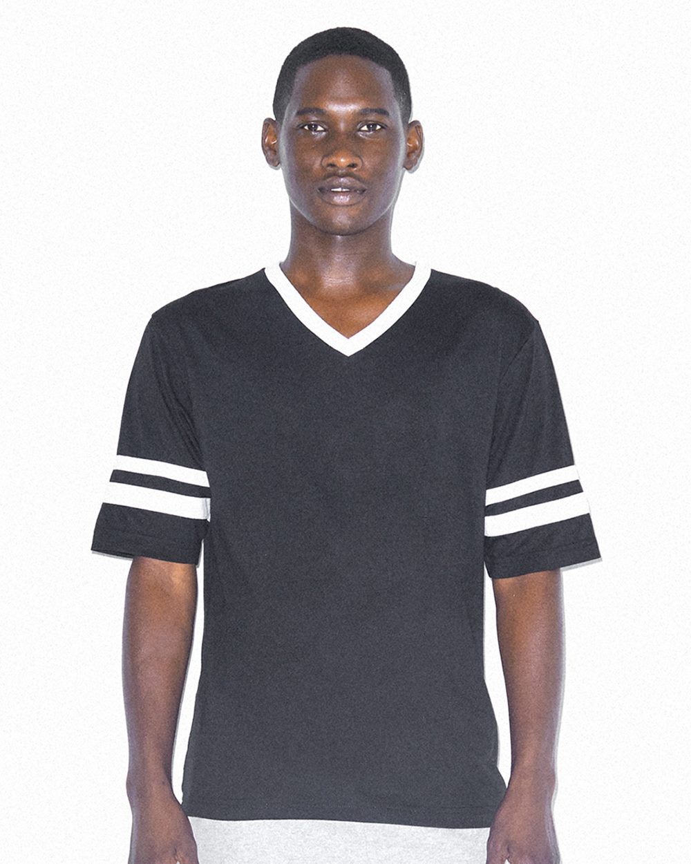 American Apparel Unisex Poly/Cotton V-Neck Football T-Shirt