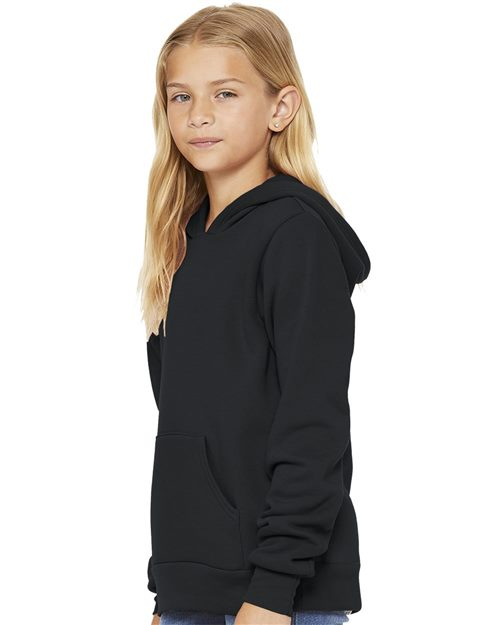 BELLA + CANVAS 3719Y Youth Sponge Fleece Hoodie Model Shot