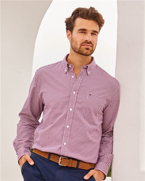 Tommy Hilfiger 13H1863 100s Two-Ply Gingham Shirt Model Shot