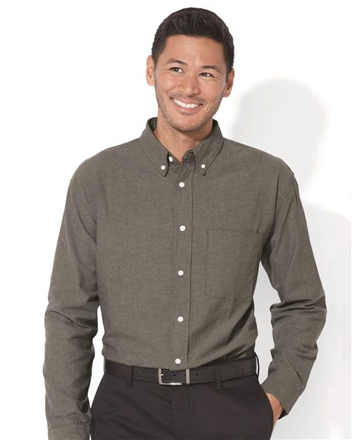 FeatherLite 3231 Long Sleeve Stain Resistant Oxford Shirt Model Shot