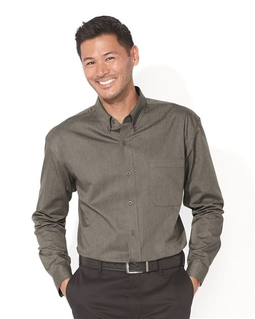 FeatherLite 3281 Long Sleeve Stain-Resistant Twill Shirt Model Shot