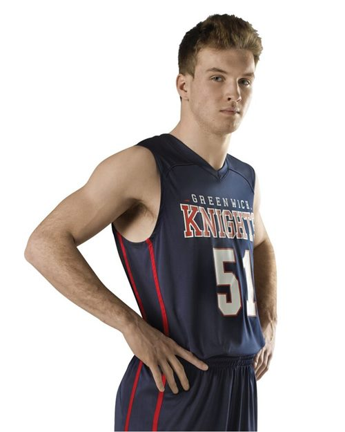 Alleson Athletic A00108 Adult Basketball Jersey Model Shot