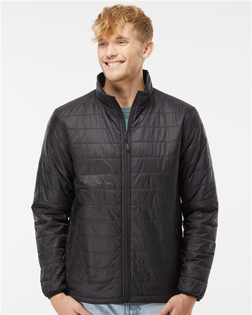 Independent Trading Co. EXP100PFZ Puffer Jacket Model Shot