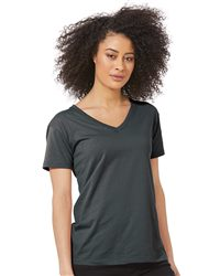 Next Level Women's Fine Jersey Relaxed V T-Shirt