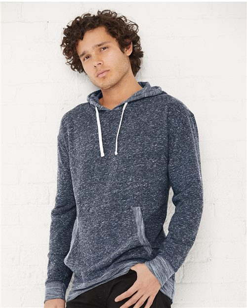 LAT 6779 Harborside Mélange French Terry Hooded Pullover Model Shot
