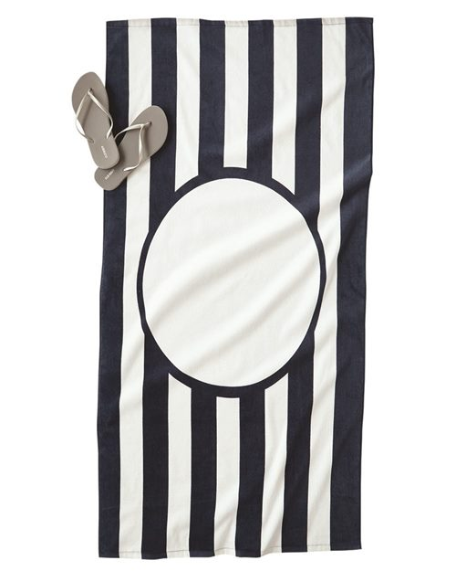 Carmel Towel Company C3060ST Striped Beach Towel Model Shot