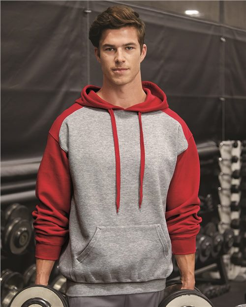 Badger 1249 Sport Athletic Fleece Hooded Sweatshirt Model Shot