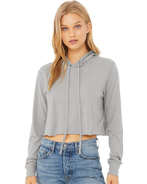 BELLA + CANVAS Fast Fashion Women's Triblend Cropped Long Sleeve Hoodie