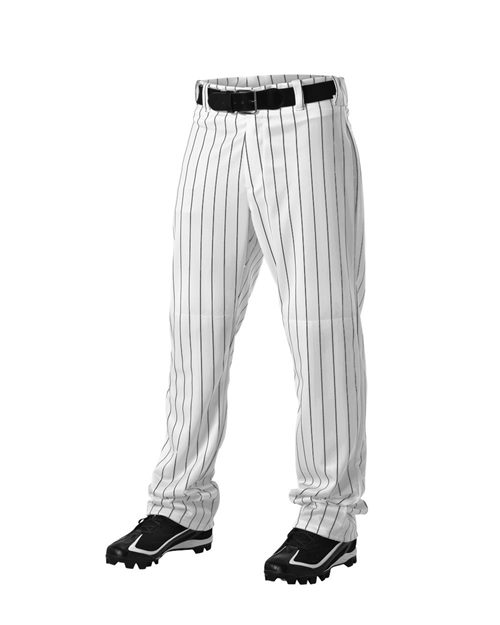Alleson Athletic A00229 Youth Pinstripe Baseball Pants Model Shot