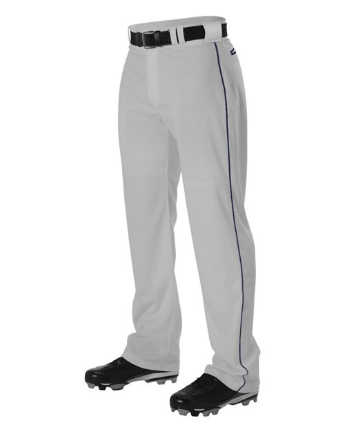Alleson Athletic A00044 Youth Warp Knit Baseball Pants With Side Braid Model Shot