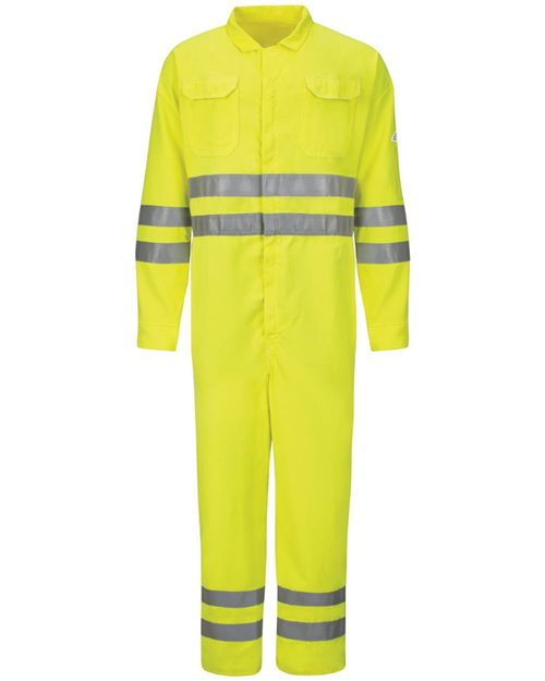 Bulwark CMD8 Hi-Vis Deluxe Coverall with Reflective Trim - CoolTouch® 2 - 7 oz. Model Shot