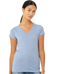 BELLA + CANVAS Women's Jersey V-Neck Tee