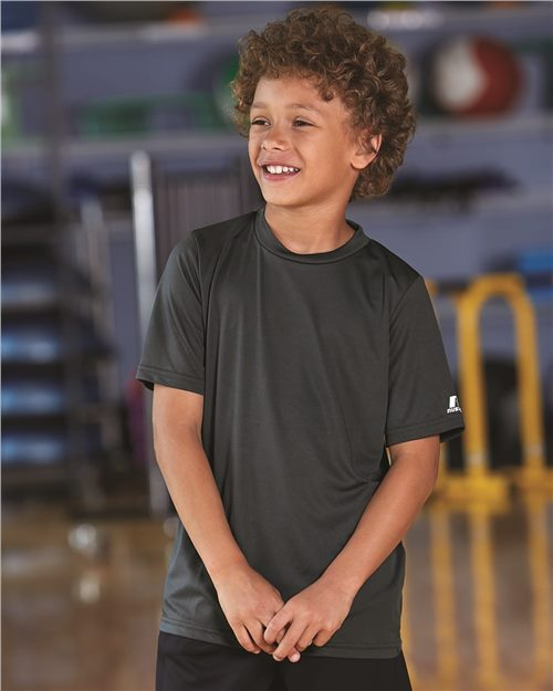 Russell Athletic 629X2B Youth Core Performance Short Sleeve T-Shirt Model Shot