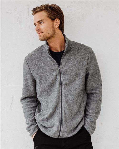 Alternative 43262 Eco-Teddy Full-Zip Jacket Model Shot