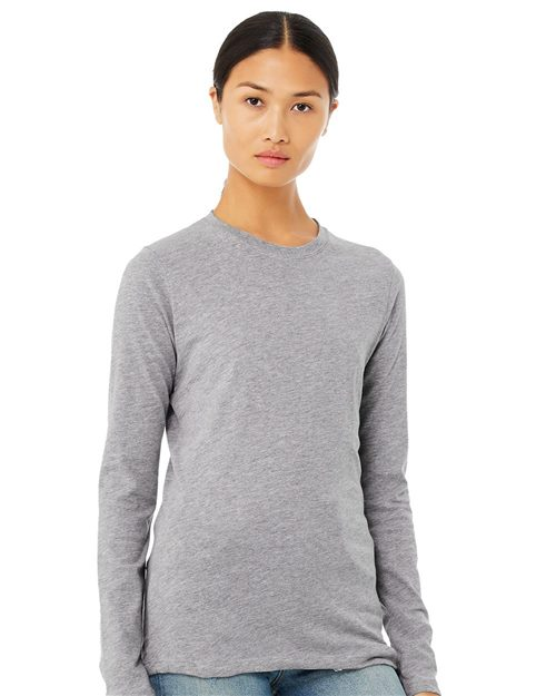 BELLA + CANVAS 6500 Women's Jersey Long Sleeve Tee Model Shot